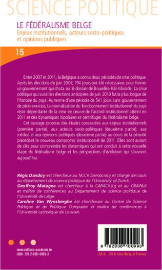 4eme Introduction - Les dynamiques du fédéralisme belge