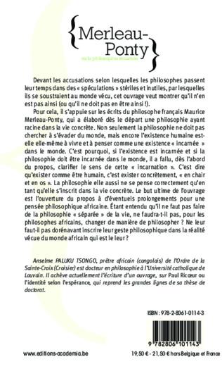 4eme Merleau-Ponty ou la philosophie incarnée