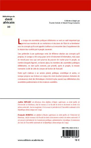 4eme Lexique des assemblées politiques délibérantes