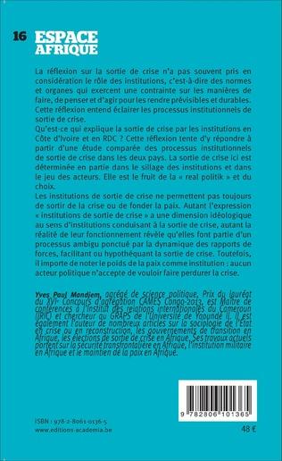 4eme Sorties de crise en Afrique (Tome 1)