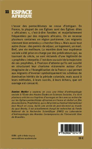 4eme Une ethnographie des pentecôtismes africains en France
