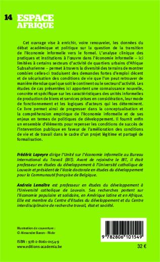 4eme Politiques publiques et pratiques de l'économie informelle en Afrique subsaharienne
