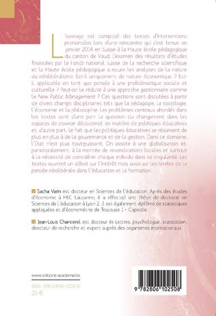 4eme Néolibéralisme et éducation