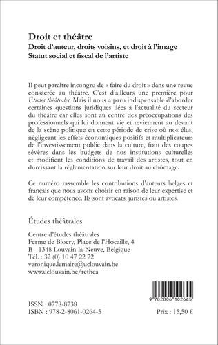 4eme Les metteurs en scène en France : artistes et auteurs ?