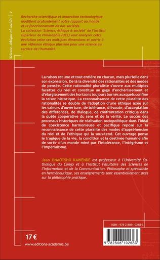 4eme Rationalité pluraliste, Ethique et Société