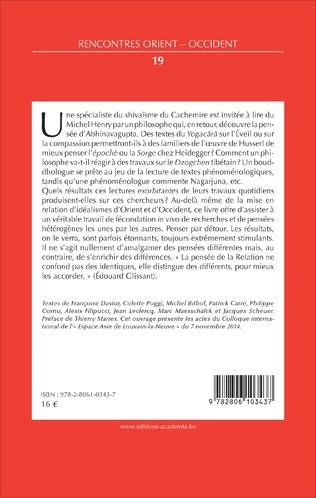 4eme IDEALISMES D'ORIENT ET D'OCCIDENT