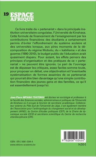 4eme L'UNIVERSITE DE KINSHASA A L'ERE DU PARTENARIAT EDUCATIF