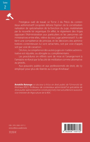 4eme Précis du contentieux administratif congolais Tome 2