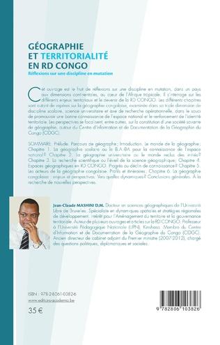 4eme Géographie et territorialité en RD Congo.