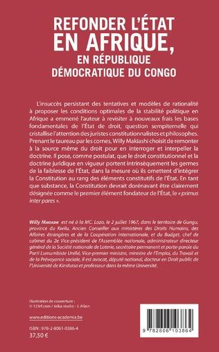 4eme Refonder l'État en Afrique, en République Démocratique du Congo