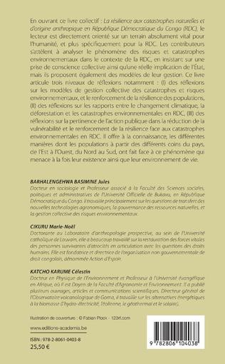 4eme Résilience aux catastrophes naturelles et d'origine anthropique en République démocratique du Congo