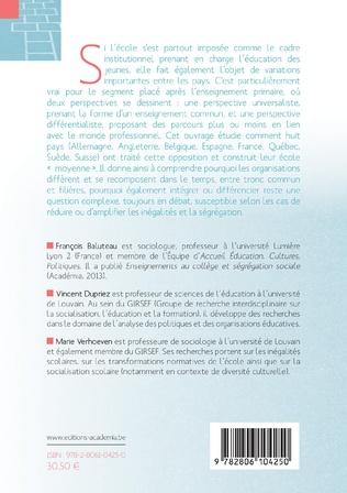 4eme Entre tronc commun et filières, quelle école moyenne ?