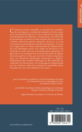 4eme Recherches et pratiques en santé mentale suite aux violences politiques