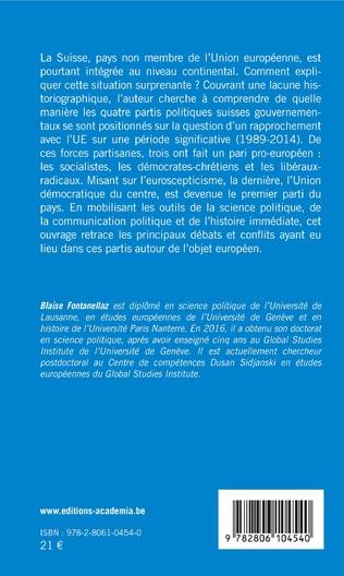 4eme Entre Sonderfall et intégration: les partis politiques suisses à l'épreuve de l'Europe (1989-2014)