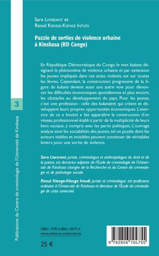 4eme Puzzle de sorties de violence urbaine à Kinshasa (RD Congo)