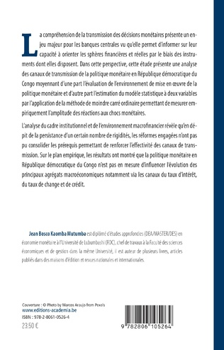 4eme Les canaux de transmission de la politique monétaire en République démocratique du Congo