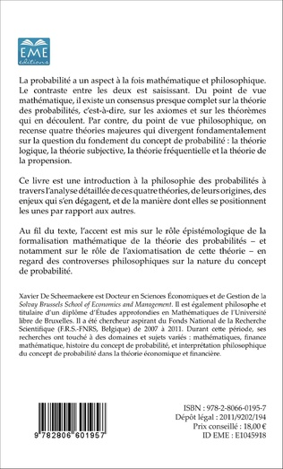 4eme Fondements philosophiques du concept de probabilité