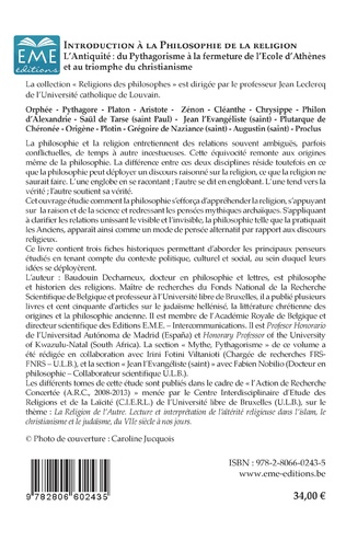 4eme Introduction à la philosophie de la religion