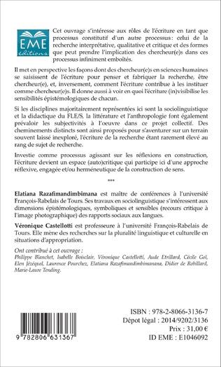 4eme Chercheur(e)s et écritures qualitatives de la recherche