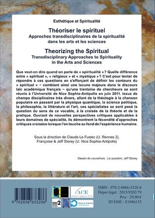 4eme Théoriser le spirituel, Approches transdisciplinaires de la spiritualité dans les arts et les sciences