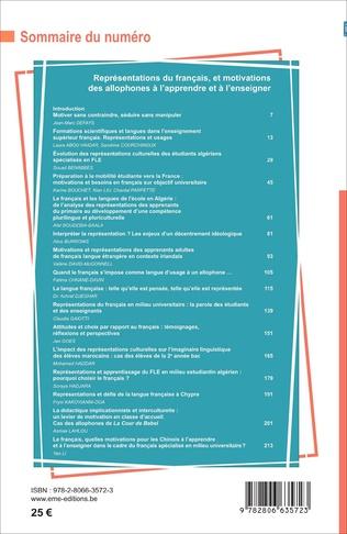 4eme Représentations du français et motivations des allophones à l'apprendre et à l'enseigner