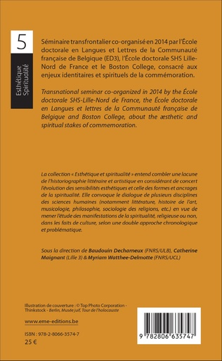 4eme Enjeux esthétiques et spirituels de la commémoration