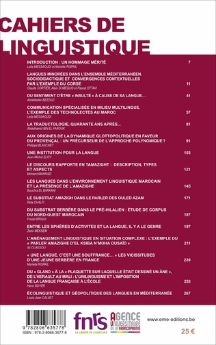 4eme Langues minoritaires en contexte plurilingue francophone
