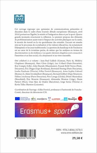 4eme Egalité, mixité, intégration par le sport