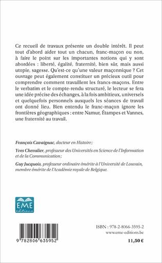 4eme INTERROGATIONS SUR LES VALEURS MACONNIQUES