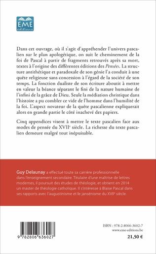 4eme Blaise Pascal en quête d'une apologétique renouvelée