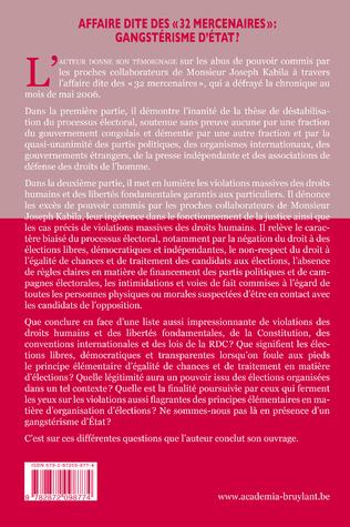 4eme AFFAIRE DITE DES «32 MERCENAIRES», GANGSTERISME D'ETAT?