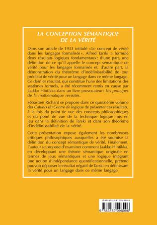 4eme LA CONCEPTION SEMANTIQUE DE LA VERITE
