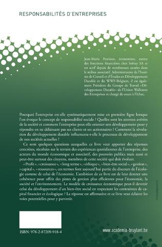 4eme LE ROLE SOCIETAL DES ENTREPRISES: UNE RESPONSABILITE PARTAGEE?