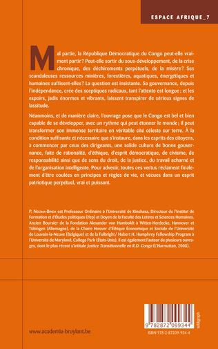 4eme PRINCIPES DE GOUVERNANCE POLITIQUE ETHIQUE... ET LE CONGO SERA SAUVE