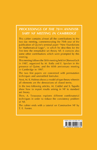 4eme PROCEEDINGS OF THE 70TH ANNIVERSARY NF MEETING IN CAMBRIDGE