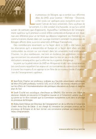 4eme Les universités africaines francophones face au LMD