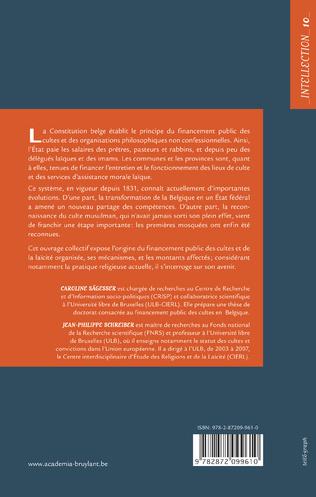 4eme Le financement public des religions et de la laïcité en Belgique