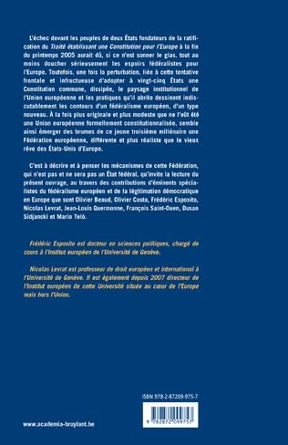 4eme Europe : de l'intégration à la Fédération