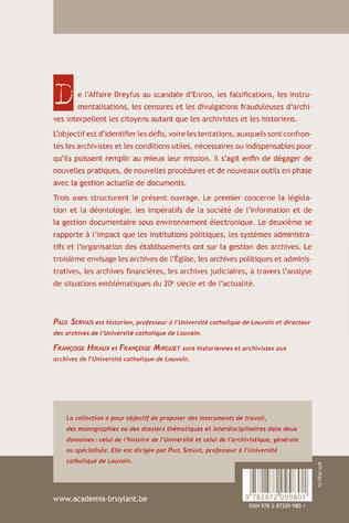 4eme Les maltraitances archivistiques
