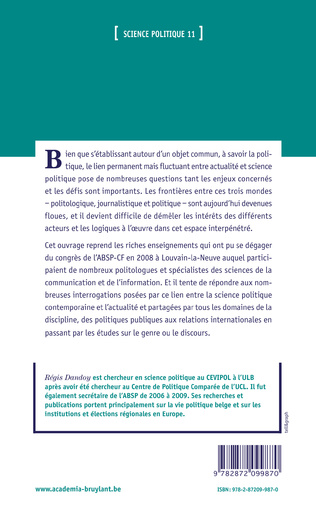 4eme Chapitre 0 - Introduction - Quand la science politique entre en concurrence pour l'actualité