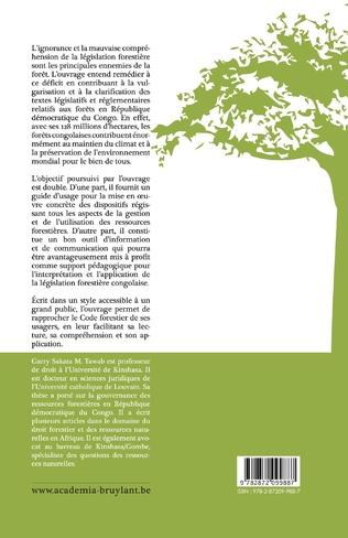 4eme Code forestier congolais et ses mesures d'application