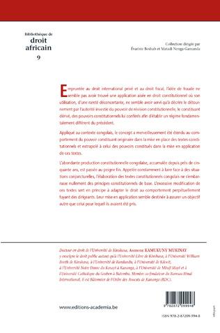 4eme Contribution à l'étude de la fraude en droit constitutionnel congolais