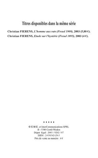 4eme Etude sur l'hystérie (Freud 1895)