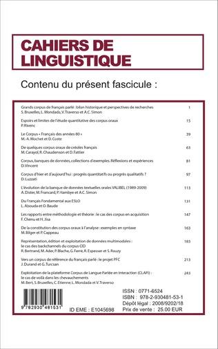 4eme Grand Corpus de français parlé